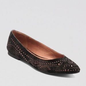 Lucky Brand Regan 2 stardust pointed toe flats 10